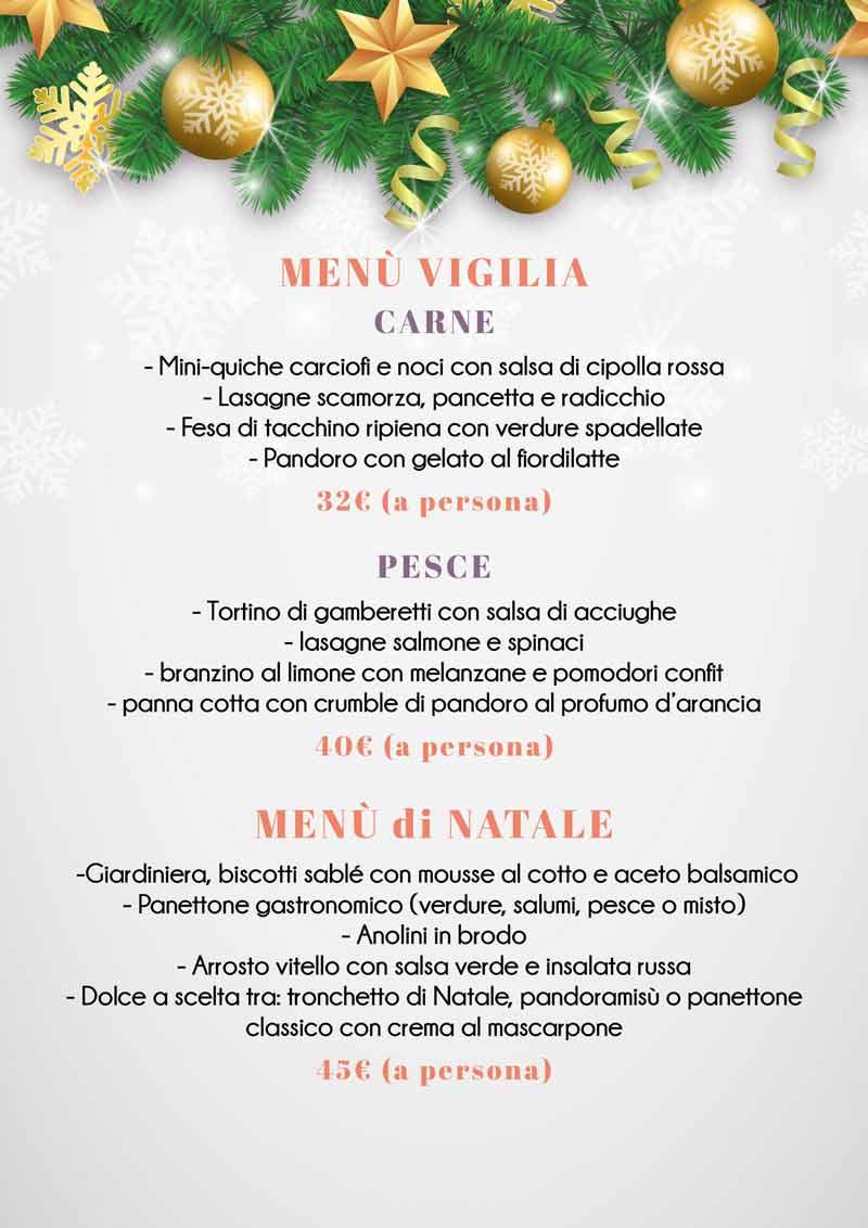 menu capodanno e vigilia